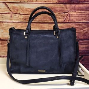 Rebecca Minkoff Blue Suede Medium Shoulder Bag